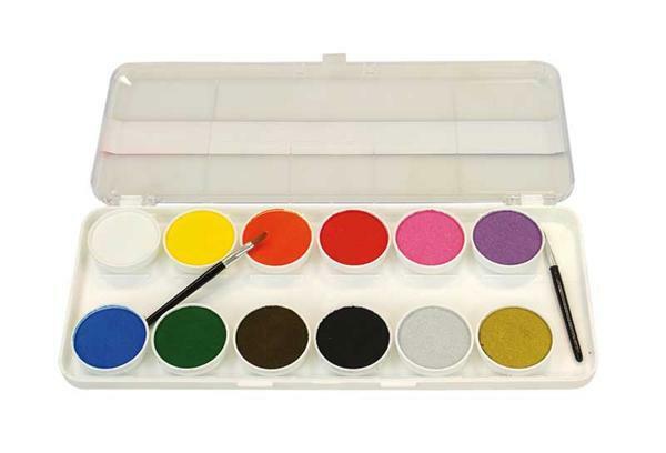 Schminkfarben, 12 Farben