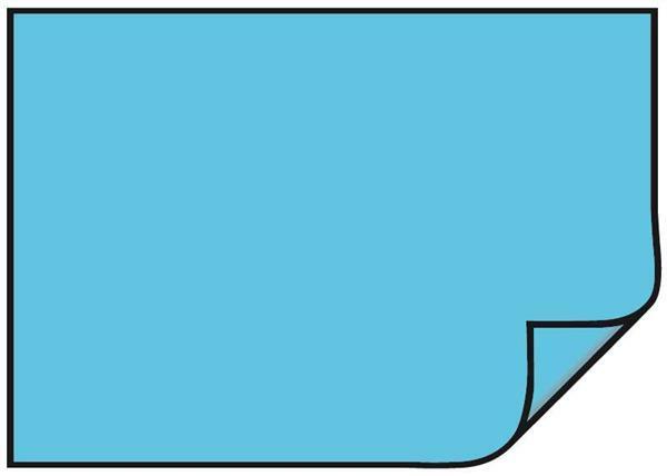 Papier dessin - 10 pces, 50 x 70 cm, bleu clair