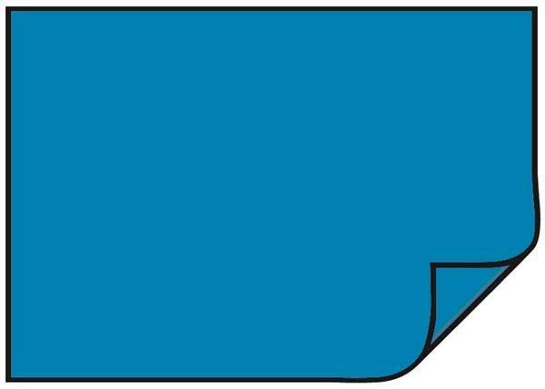 Papier dessin - 10 pces, 50 x 70 cm, bleu moyen