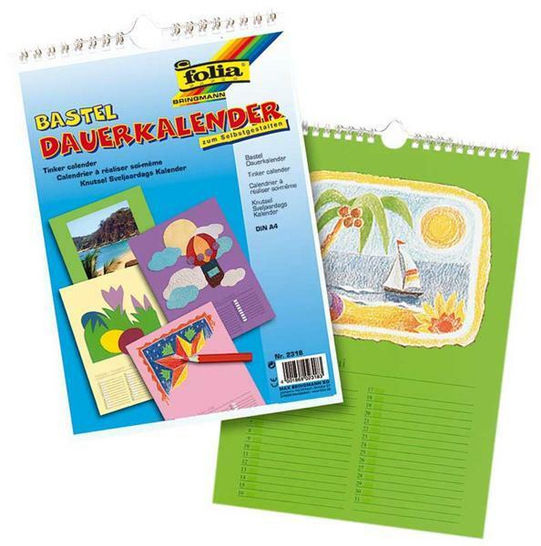 Mal- und Bastelkalender - A4, bunt
