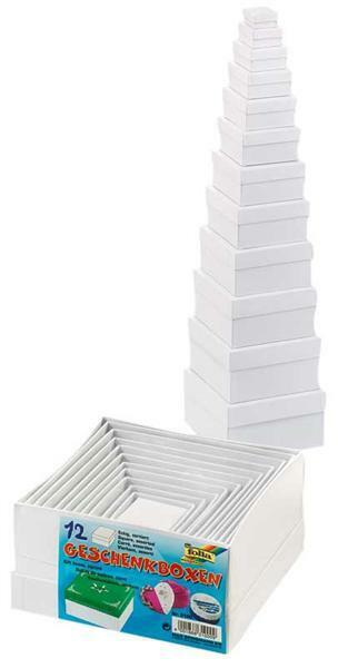 Boites à cadeaux - carrés, blanches