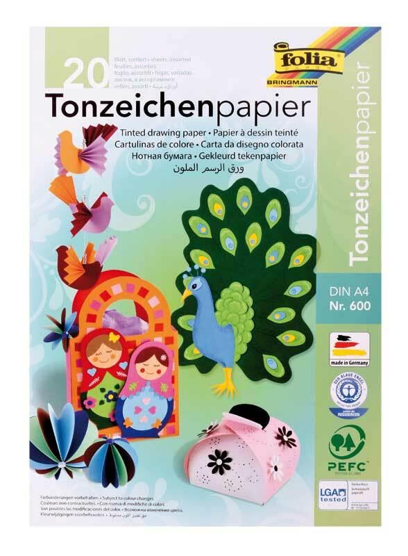 Bloc de papier dessin couleur - 20 feuilles, A4
