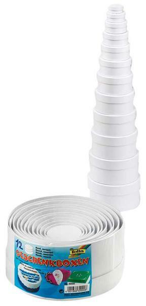 Boites à cadeaux - ronde, blanc