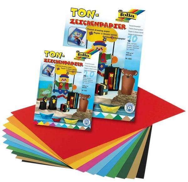 Tonpapierblock - 10 Blatt, A3