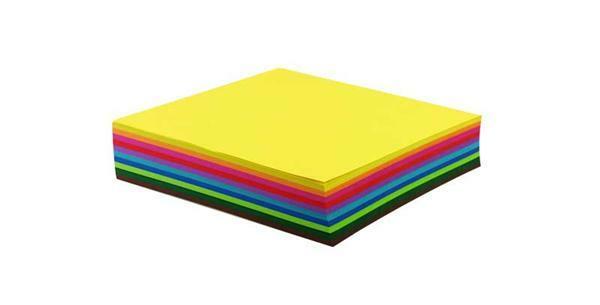 Papier à plier - 500 pces, 10 x 10 cm