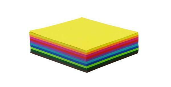 Papier à plier - 500 pces, 15 x 15 cm