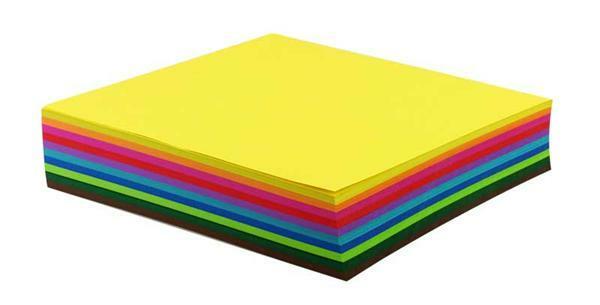 Papier à plier - 500 pces, 20 x 20 cm