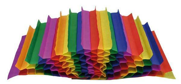 Honingraatpapier, regenboog