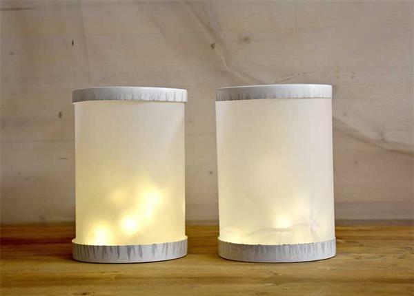 Découpes pour lanterne - 25 feuilles, blanc