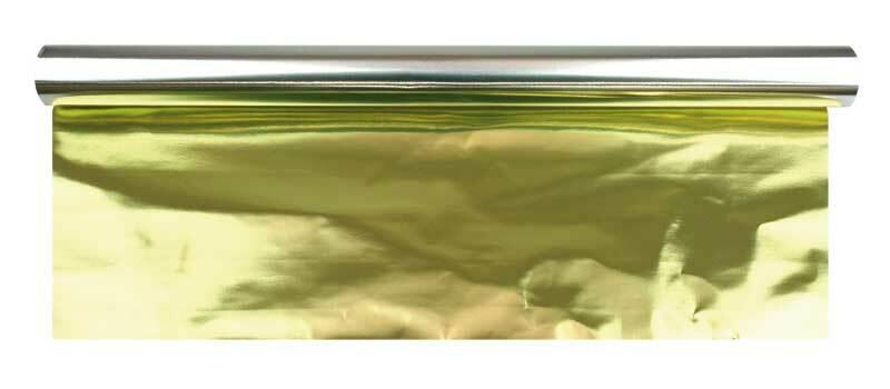 Papier métallisé - largeur 50 cm, 10 m, or-argent