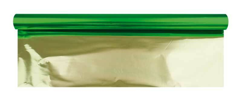 Bastelfolie Alu - 50 cm breit, 10 m, grün-gold