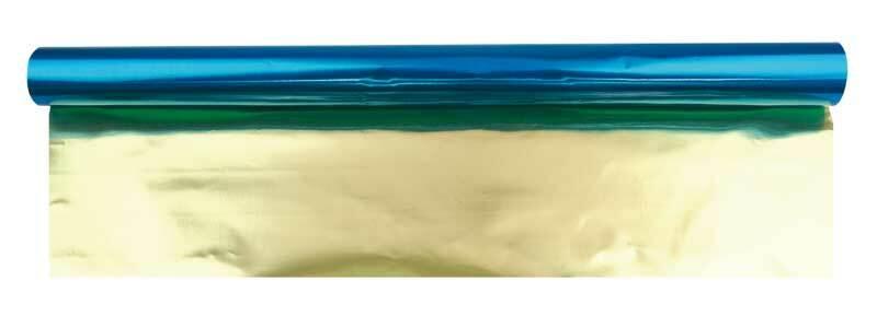 Bastelfolie Alu - 50 cm breit, 10 m, blau-gold