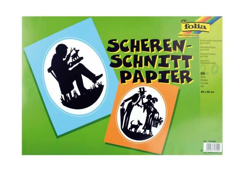 Scherenschnittpapier schwarz, 35 x 50 cm, 20 Blatt