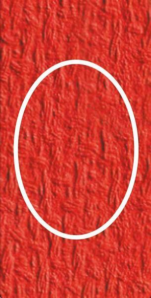 Passepartoutkarten oval, 3er Pkg. hochrot