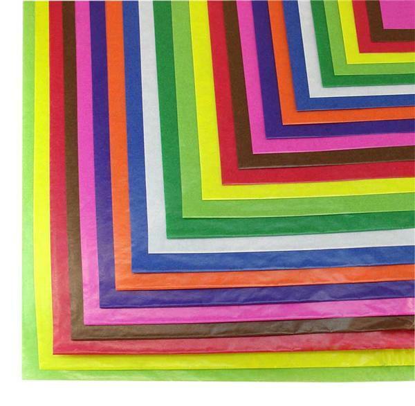 Transparant papier - 70 x 100 cm, 25 vel, gekleurd