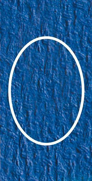 Passepartoutkarten oval, 3er Pkg. ultramarin