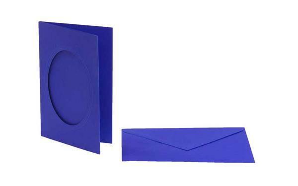Passe-partoutkaarten ovaal, 3 st., marineblauw