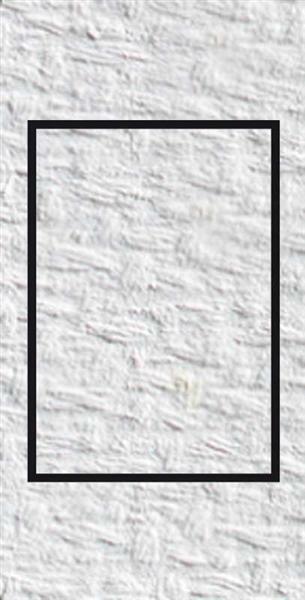 Passepartoutkarten rechteckig, 3er Pkg. weiß