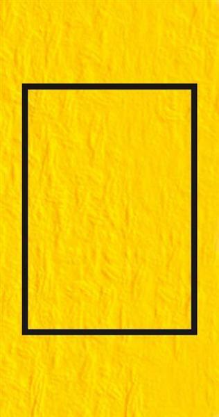 Passe-partoutkaarten rechthoekig, 3st.,bananengeel