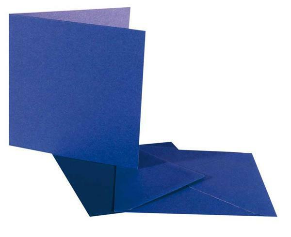 Dubbele kaarten vierkant, 5 st. koningsblauw