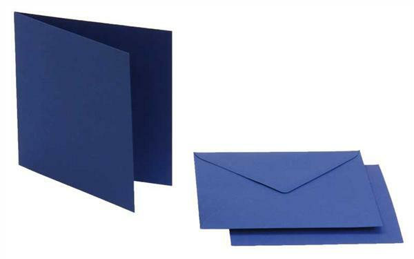 Cartes doubles carrées, 5 pces, bleu roi