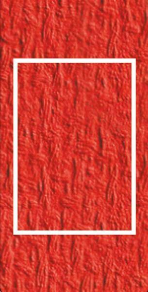 Passepartoutkarten rechteckig, 3er Pkg. hochrot