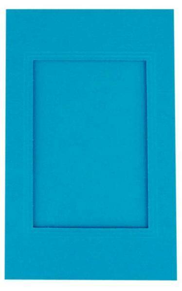 Passe-partoutkaarten rechthoekig, 3st.,hemelsblauw