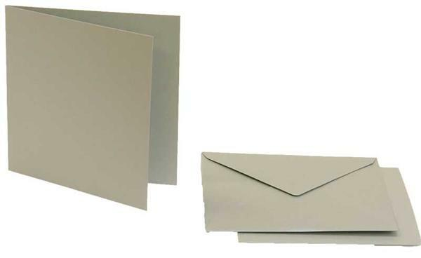 Doppelkarten quadratisch, 5er Pkg. silber