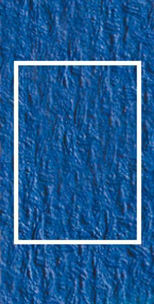 Passepartoutkarten rechteckig, 3er Pkg. ultramarin