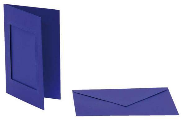 Passe-partoutkaarten rechthoekig, 3st.,marineblauw