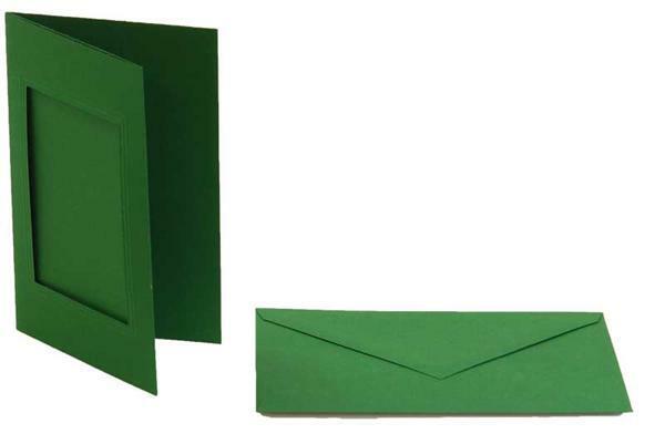 Passe-partoutkaarten rechthoekig, 3st.smaragdgroen