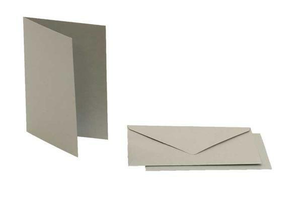 Doppelkarten rechteckig, 5er Pkg. silber