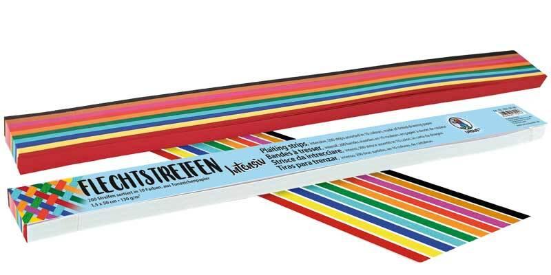 Rubans de tressage - 200 bandes, 1,5 x 50 cm