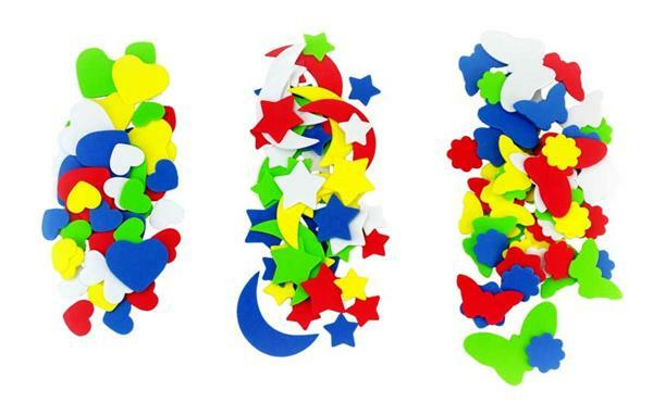 Caoutchouc mousse - divers formes, 150 pièces
