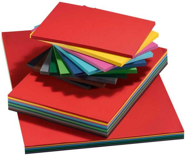 Carton teinté - A4, 250 pces, multicolore