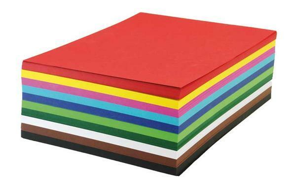 Gekleurd karton 160g/m² - 500 vel,  A4