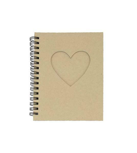 Pappmache Notizbuch, mit Herz