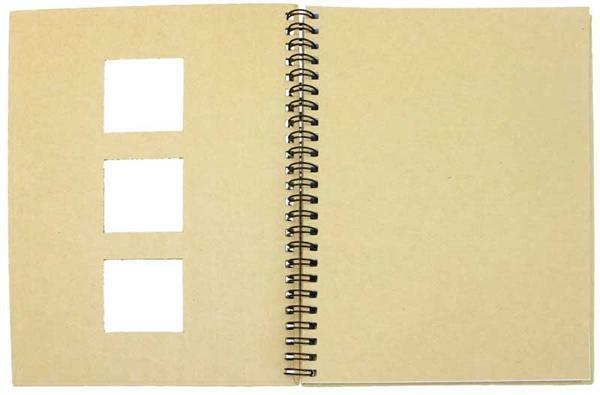 Pappmache Notizbuch, m. Passepartoutstanzung