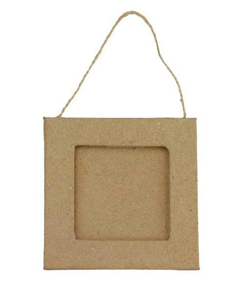 Pappmache Rahmen, Quadrat klein