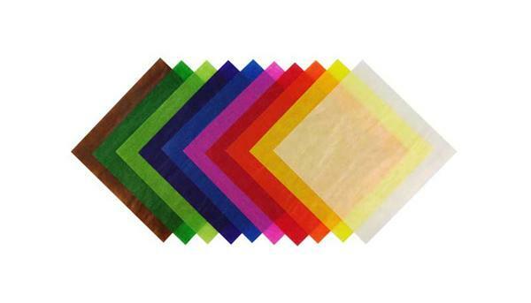 Faltblätter Transparentpapier, 10 x 10 cm