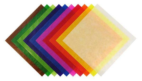 Vouwbladen transparantpapier, 15 x 15 cm