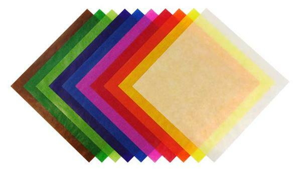 Faltblätter Transparentpapier, 15 x 15 cm