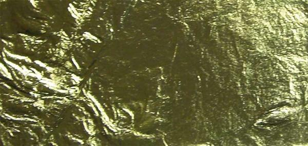 Feuille métal / alu - 14 x 7 cm - 25 feuilles, or