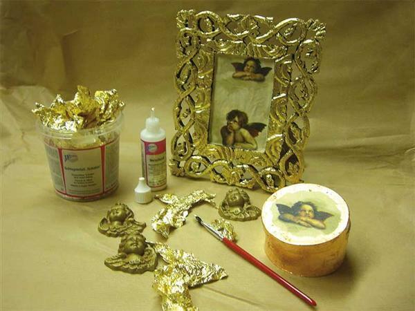 Metallfolie/Blattmetall 14 x 7 cm - 25 Blatt, gold