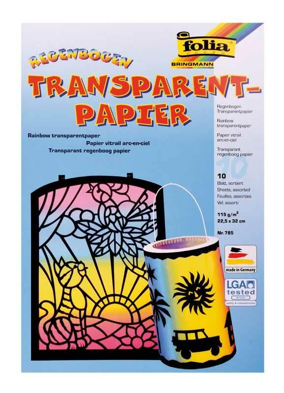 Transparentpapier - 23 x 33 cm, 10 Blatt, regenbog