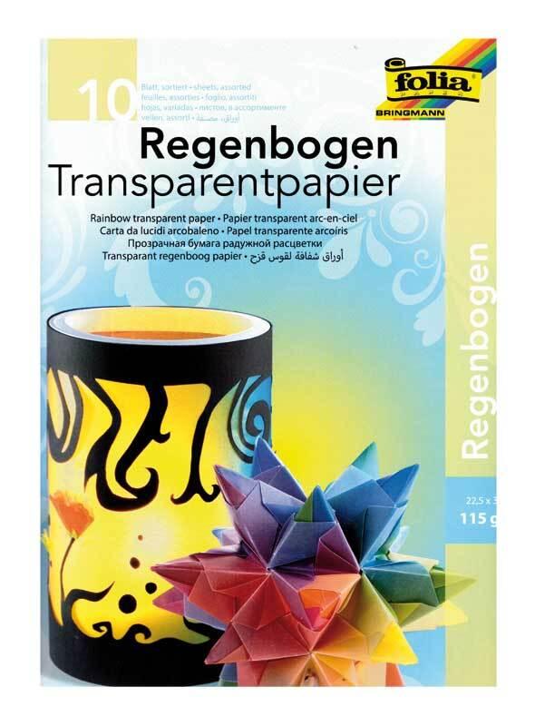 Papier transparent-23x33cm, 10feuilles,arc-en-ciel