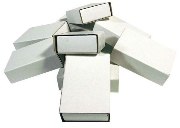Blanco luciferdoosjes - klein, 10 stuks