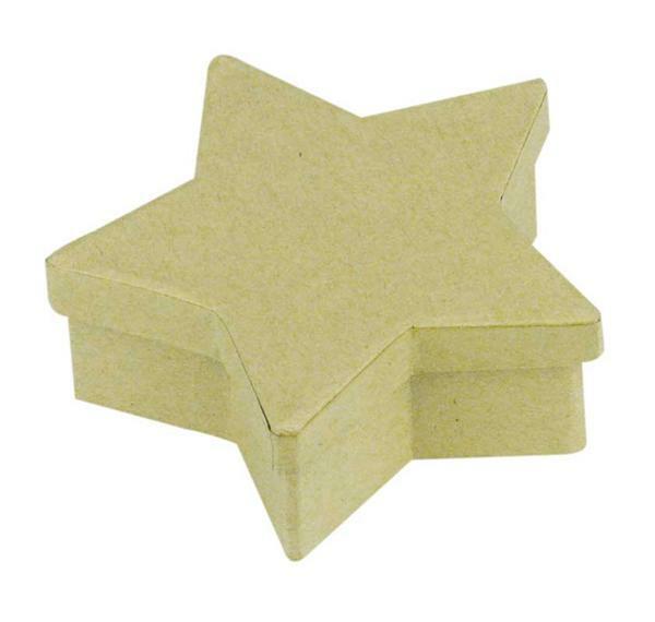 Papier-maché doos - ster, Ø 10,5 x 3,8 cm