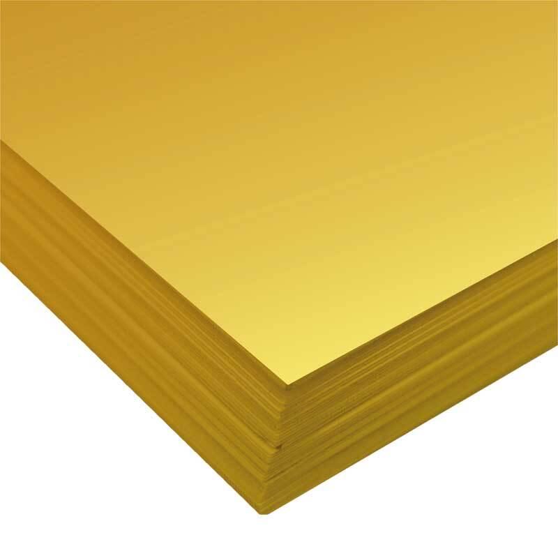 Fotokarton - 10 st./pak, 50 x 70 cm, goud mat
