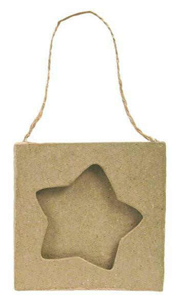 Pappmache Rahmen, Stern klein